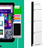 #8: Monitor Memo Board Computer - Monitor Sticky Note Holder - Phone Message Memo Pad Charge Cable - Clip Transparent Message Creative Multifunction Paper Sticky Notes Boards for Cabinets Shelves Right