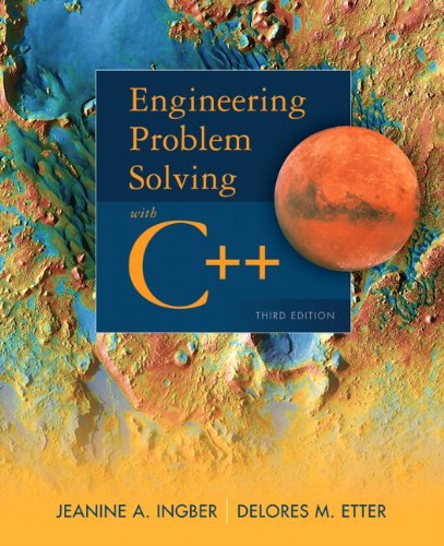 Engineering Problem Solving with C++ (3rd Edition) by Prentice Hall