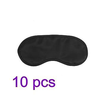 Máscara del sueño 10pcs gafas de sueño, ojo del resto máscara de la cabeza ajustable Correa, Satisfacción garantizada sueño, dormir en cualquier lugar en ...