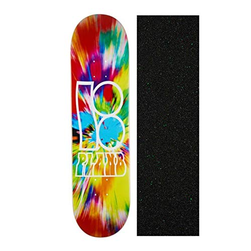 (Plan B Felipe Nexus 8.125 inch Skateboard Deck with Mob Glitter Grip Tape)