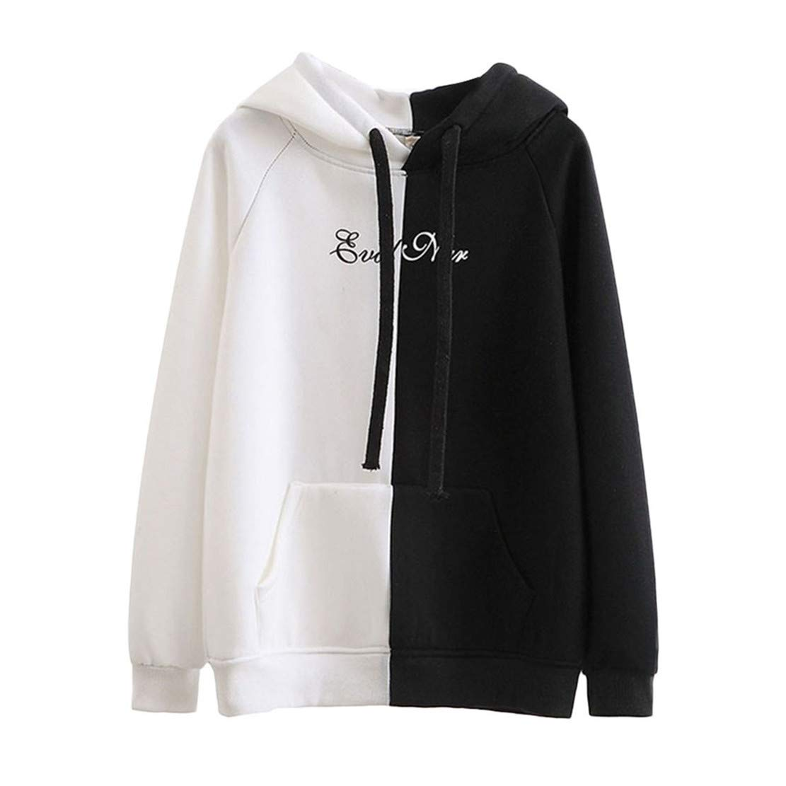 Mikey Store Women Autumn Long Sleeve Hooded Fashion Sweatshirt Letter Print