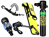 New 3.0CF Nitrox Spare Air Package for Scuba Divers With Fill Adapter, Holster, Leash, and FREE Quick Release Coil Lanyard ($15.95 Value)