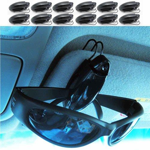 12 Sunglass Visor Clip Sunglasses Eyeglass Holder Car Auto Reading Glasses - Sunglasses Xii