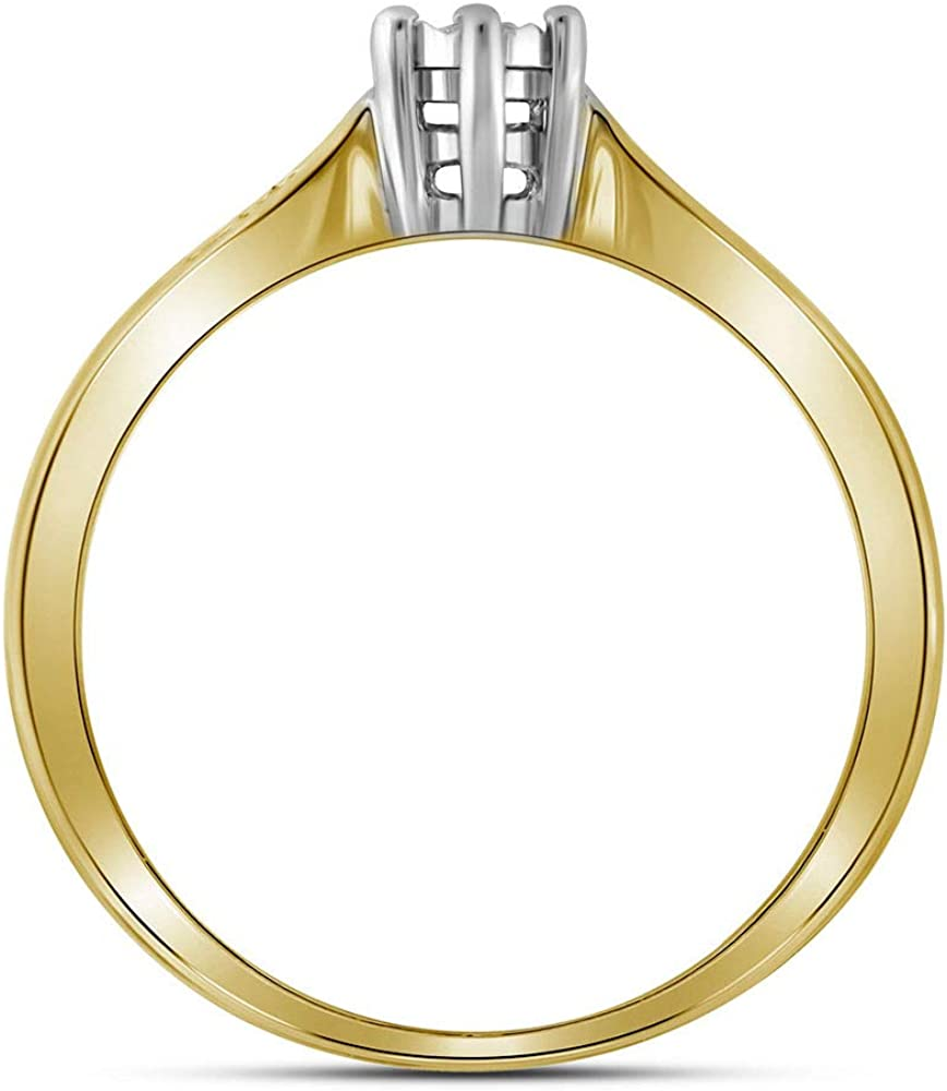 Sterling Silver Diamond Solitaire Engagement Ring Wedding Anniversary 1//20 ct Size 5