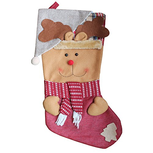 AnciTac Christmas Stockings Hanging Set 17'' Large Bags, Bulk Stocking Kit for Xmas Tree or Fireplace Decoration(Type A) by AnciTac (Image #8)