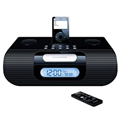 iLuv i177 Alarm Clock Speaker System for iPod (Black)