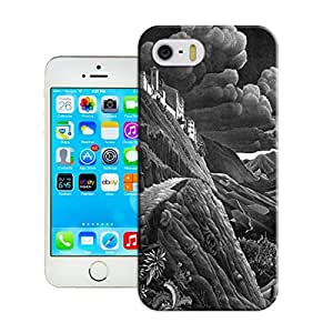 LarryToliver First Design Customizable Black and white artwork Best Durable Plastic Silicone iphone 5/5s Case wangjiang maoyi
