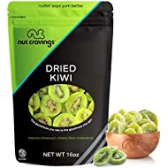Sun Dried Kiwi Slices, with Sugar Added (16oz - 1 Pound) Packed Fresh in Resealable Bag - Sweet Dehydrated Fruit Treat, Trail Mix Snack - Healthy Food, All Natural, Vegan, Gluten Free, Kosher