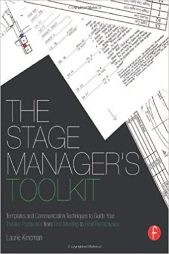 amazon com the stage manager s toolkit templates and communication
