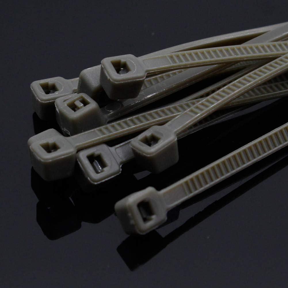 200Mm Attaches De C/âble En Nylon Avec///Largeur Color/ée/Auto-Bloquante/2.7Mm ZADAI Attache De C/âble Attache De///C/âble Standard/100Pcs/4 Blanc