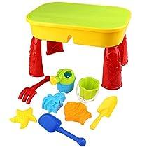 Peradix Mesita con cajón de arena y accesorios para niños