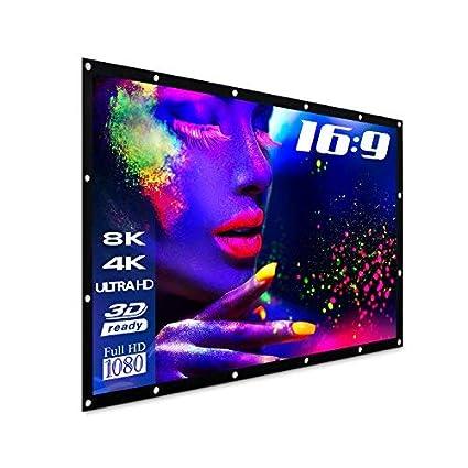 "100/"" 16:9 Beamer Leinwände Projektor Leinwand Projector Screen For 4K Projection"