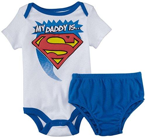 Warner Bros Superman Diaper Cover Set (Baby) - Blue-0-3 Months