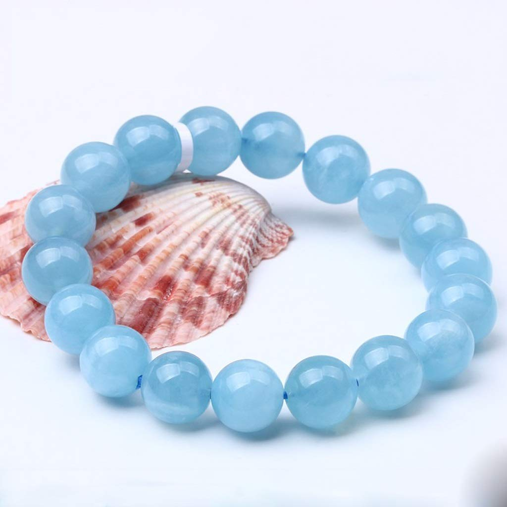 Handmade Bracelet Jiale Natural Crystal Bracelet-HJCA19060036 Women's Men's Bracelet, Gift Single Ring Bracelet Light Blue Personal Gift