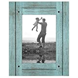 Americanflat 5x7 Turquoise Blue Distressed Wood Frame Made to Display 5 Deal (Small Image)