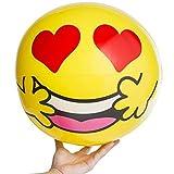 "Emoji Universe 20"" Emoji Inflatable Balls Beach Lake Pool Vacation Summer (Set of 2 random pick)"
