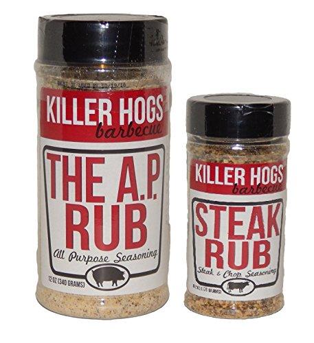 Killer Hogs Combo Pack - 12 Oz The AP Rub and 6.2 Oz Steak Rub by Killer Hogs