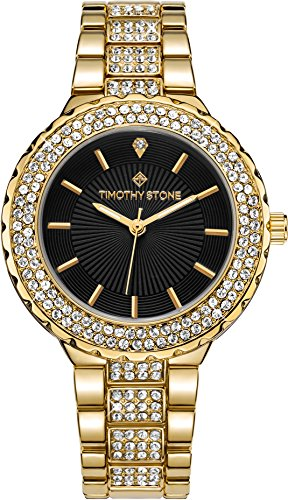 Gold Tone Crystal Bezel Watch - 2