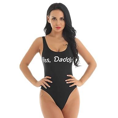 Freebily - Disfraz de Mujer con Estampado de Yes Daddy? Monokini ...