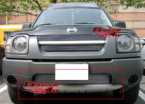 APS Compatible with 2002-2004 Nissan Xterra Bumper Billet Grille Insert S18-A73456N ()