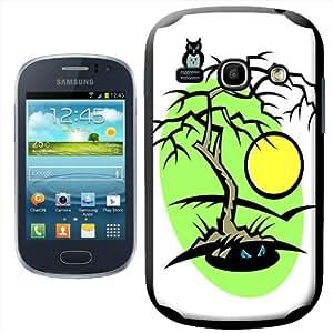 Fancy A Snuggle - Carcasa para Samsung Galaxy Fame S6810, diseño de árbol en Halloween