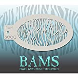 zebra face paint - Bad Ass Small Zebra Mini Stencil BAM3009 by Bad Ass Stencils