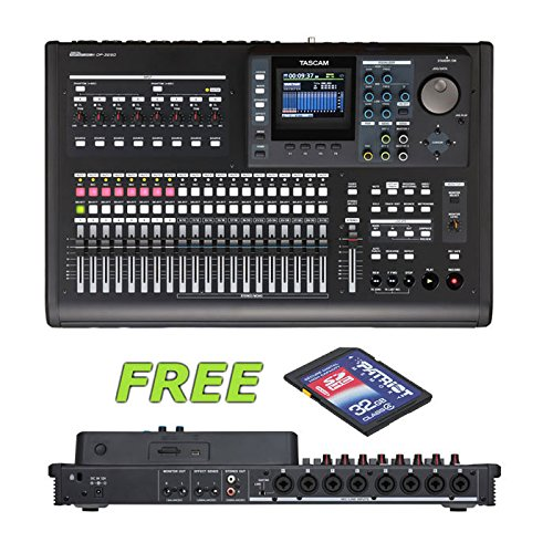 Tascam DP-32SD 32-Track Digital Portastudio with a Free Patriot 32GB SD Card