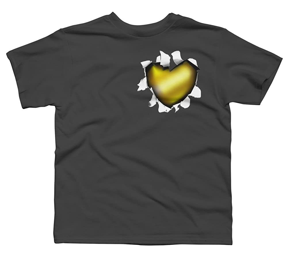 Design By Humans Heart of Gold Boys Youth Graphic T Shirt