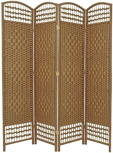 Oriental Furniture 5 1 2 ft. Tall Fiber Weave Room Divider