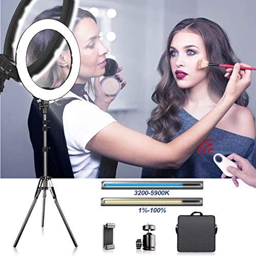 Video Shooting LED Video Light Dimmable Bi-color LED Panel 60W 3000K-5800K With 200cm Light Stand for SLR Cameras,YouTube Studio,Photography Lighting