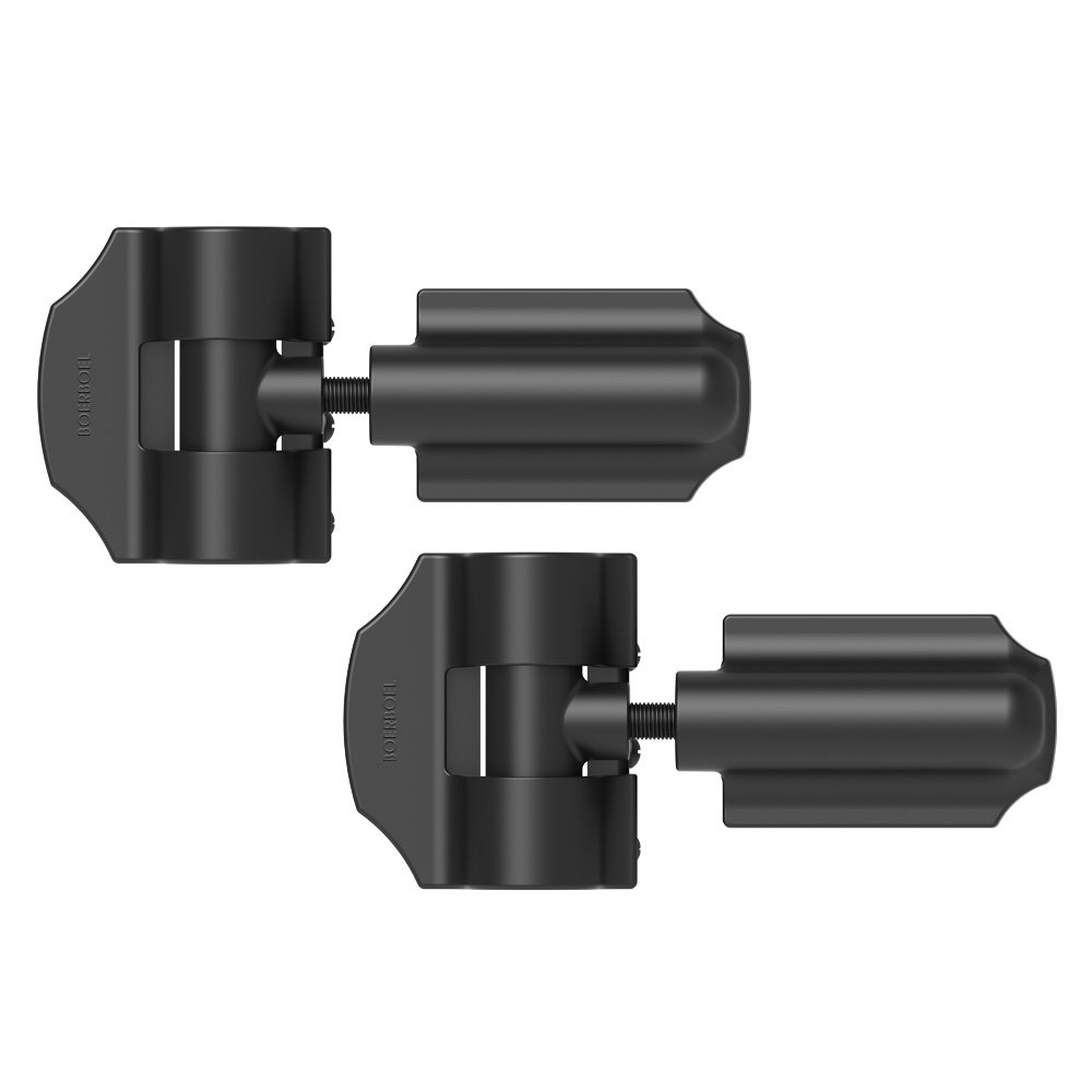 Boerboel Gate Solutions 73014300 Pair Heavy-Duty Contemporary Wrap Hinge, Black
