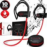 [Newest 2019] Wireless Workout Bluetooth Headphones for Running and Gym - Mens Best Noise Cancelling Sport Earbuds - Waterproof IPX7 Sports Earphones - HD Stereo Sound Headset for iPhone & Android
