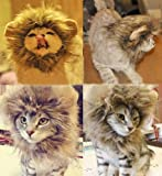 Generic Pet Costume Lion Mane Wig for Cat Christmas Xmas Santa Halloween Clothes Festival Fancy Dress up