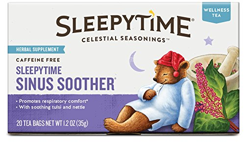Celestial Seasonings Sleepytime Sinus Soother Wellness Tea Herbal Supplement, 20 (Skin Whitening Tea)