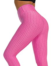 Loosnow Women Anti-Cellulite Compression Leggings Slim Fit Butt Lift Elastic Pants