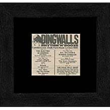 The Electric Bluebirds Syl Sulvain's Roman Sandles - Dingwals 12th-19th August 1982 Gigs Framed Mini Poster - 18x18cm