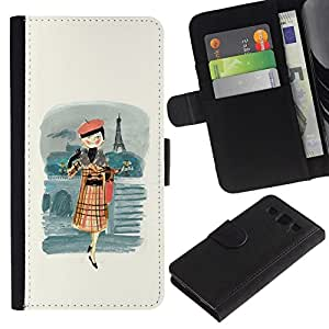 // CIUDAD ACTUAL MECELL // Piel sintética Carcasa para Samsung Galaxy S3 III I9300 /// Francesa de mujer boina moda ///