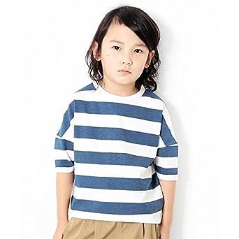 870db0b8cefec デビロック(devirock) ワイドボーダーゆるっとTシャツ カットソー 半袖Tシャツ