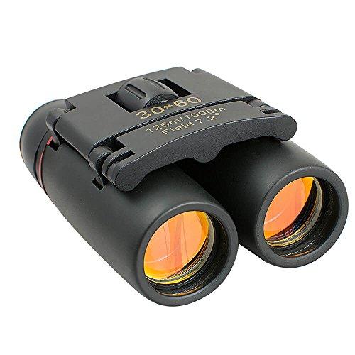 Enshey 30 x 60 Mini Télescope, Pliable Compact Zoom Jumelles Pliantes de Voyage en Plein air pour Vision Diurne ou Nocturne Idéal en Camping ou en Randonnée - 30 x 60