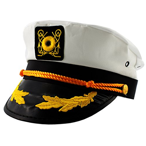 [Captain's Hat, Unisex Teens and Adults Yacht Cap (Snap Back Adjustable-19-23