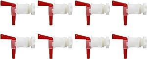 Plastic Bottling Spigot Bucket Tap - LUCKEG Brand Italian Bottling Spigot for Fermenter Bottling Bucket (PACK of 8)