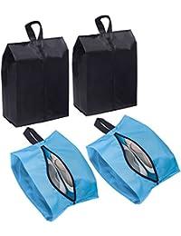 Large Travel Shoe Bags, Waterproof Shoe Storage Bag, Nylon Packing Cube Organizer With Zipper for Men Women (Set of 4)