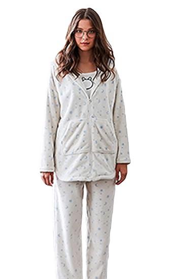 meilleur site web 5152d 4c4d5 SK Studio Femme Ensembles de Pyjama Flanelle Chaude Hauts de ...