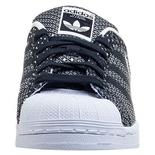 new style 06ffc c88f9 adidas Superstar Weave, Superstar Weave Femme - Noir - NoirBlanc, 39 13  EU Amazon.fr Chaussures et Sacs