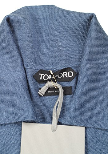 CL - Tom Ford Blue Long Sleeve Polo Sweater Size 48   38R U.S. in Cashmere 460b544056bae