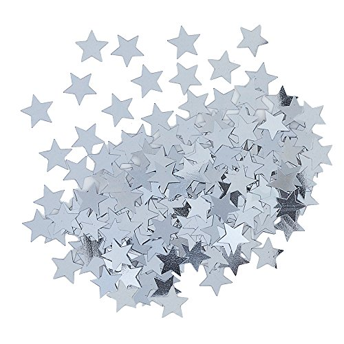 Metallic Silver Star Confetti Silver Stars Invitation