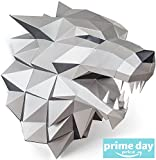 WOLF Head Paper Trophy Complete Craft kit GOT House Stark Direwolf DIY 3D Building puzzle for adults Low Poly paper Animal Building set Game of thrones