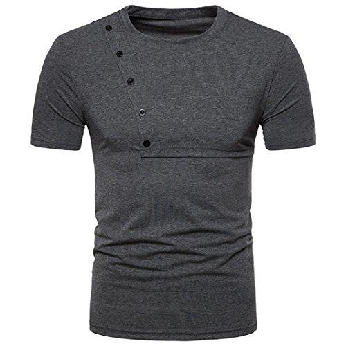 Slogan Baby T-shirt - SPE969 Top Blouse Hot Sale Men's Casual Slim Zipper Short Sleeve T Shirt