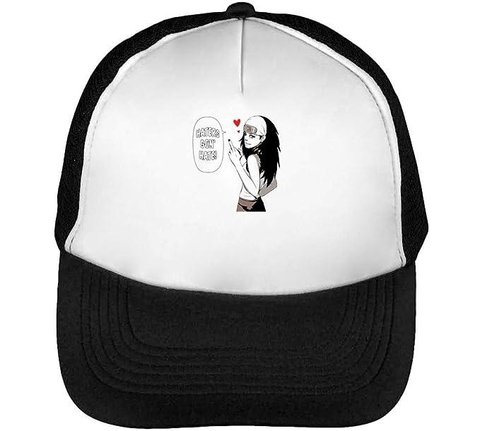 Haters Gona Hate Girl Gorras Hombre Snapback Beisbol Negro Blanco  Amazon.es   Ropa y accesorios 0f78c2e76dc