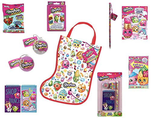 Shopkins Easter Basket Stuffers Holiday Ornaments - 9 Piece Bundle